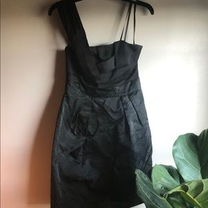 Black one-shoulder BCBG dress